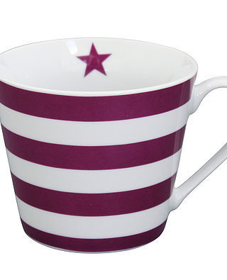 Krasilnikoff Happy Cup, Plum Stripes
